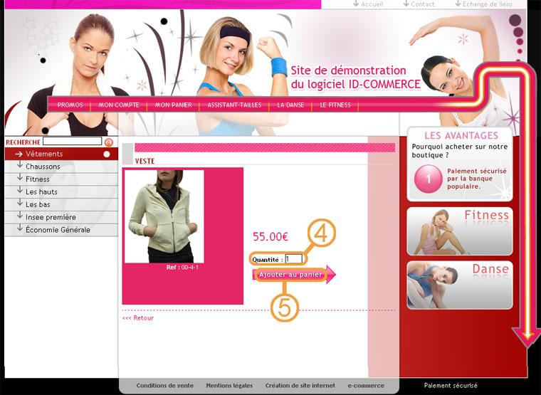 boutique en ligne - commande