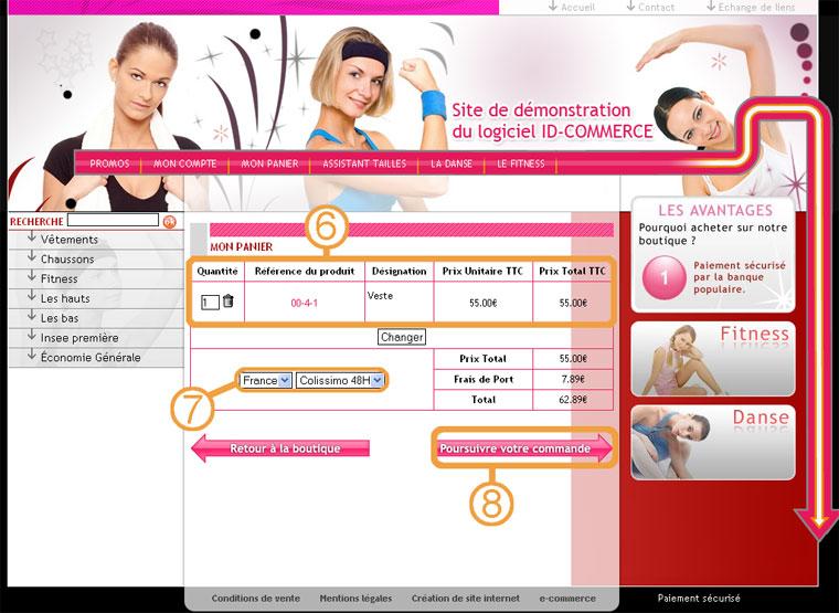 site internet ecommerce - commande