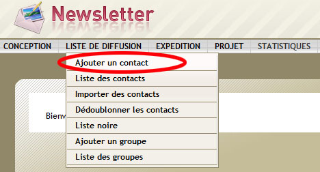ajouter contact